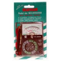 Мультиметр YX-2000,AC(0-10/50/250/500V) DC(0-2.5/10/50/250/500V,0-10/250mA) R(0-1К/1МОм),провер.бат.