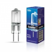 Лампа галоген. Camelion JD G6.35 220V 50W