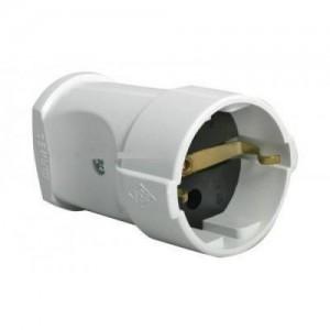 Makel штепсель 16А 250В (АБС-пластик, белый, земля) 10003