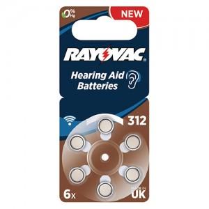Элемент питания Varta Rayovac Acoustic ZA-312 BL6 4607 945 416