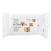 Чист. салф. Konoos для ЖК-экранов ноутбуков, смартфонов, КПК KSN-15, покетпак 15 шт.