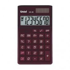 Uniel калькулятор UK-38 карманный, красный