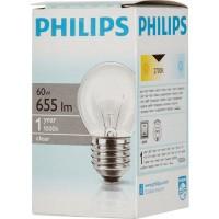 Лампа накал. Philips P45 E27 60W шар матовая 3568