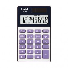 Uniel калькулятор UK-18 карманный, синий (1/200)