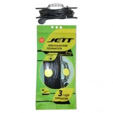 Jett (ДЖЕТТ) рамка ПВС 2х0.75 1 роз. 16 м 10А черн. РС-1