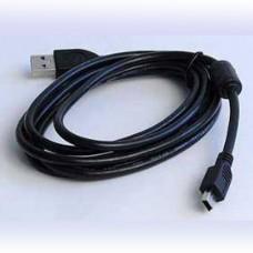USB(A)шт. - miniUSB(B)шт. 1,8м с фильтром GOLD Gembird CCF-USB2-AM5P-6