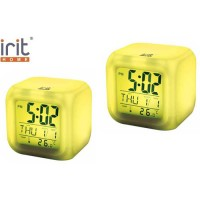 Часы-календарь IR-600, 7 подсветок, термометр (АА*3шт нет в компл)