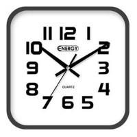 Часы настенные Energy EC-08 25,4*3,9см (квадратные) плавный ход, пластик,  АА*1шт нет в компл 9308 (1/20)