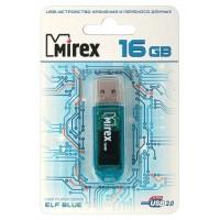 Флэш-диск USB 16GB Mirex ELF BLUE  (ecopack)