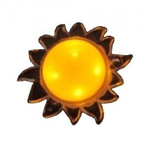 Космос KOCNL_LP1004 ночник 1W 4LED солнце, 220V, пластик, без выкл., 1 цвет (1/100)
