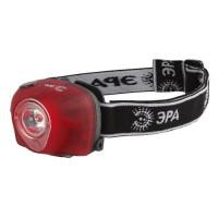 ЭРА фонарь налобный G3W (3xR03) 1св/д 3W (белый)+2св/д(красный), красный/пластик, 3 режима, BL