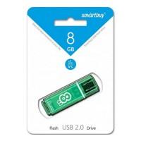 Флэш-диск USB 8Gb SmartBuy Glossy Green SB8GBGS-G