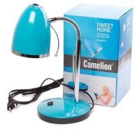 Camelion KD-308 C13 св-к настольный 40W E27 металл голубой