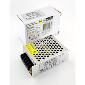 Ecola Блок питания для св/д лент 12V 25W IP20 80х60х33 (интерьерный) B2L025ESB