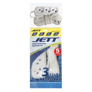 Jett (ДЖЕТТ) ШВВП 2х0.75 3 роз. 5 м 6А белый (уп.) РС-3