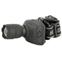 Ultraflash фонарь налобный LED5354 (3xR03) 1св/д, 1W, 3 реж., фокусир, отражатель, черн./пластик