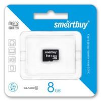 MicroSDHC 8GB Class10 SmartBuy без адаптера