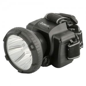 Ultraflash фонарь налобный LED5366 (акк.4V 0.42Ah) 1св/д 0.5W (27lm),черн/пласт,отраж,2 реж,з/у 220V (1/5/100)
