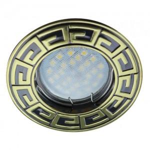 Ecola DL110A MR16 GU5.3 св-к встр.литой Антик Черный Хром/Золото 24x86 FM1602EFF