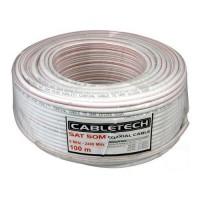 Кабель SAT-50 75 Ом Cabletech (1.02 жила сталь/медь,64x0.12 оплетка алюм) бухта 100м белый 01-2401-2 (1/6)