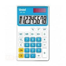 Uniel калькулятор UK-26 карманный, синий (1/200)