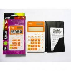 Uniel калькулятор UK-26 карманный, оранжевый