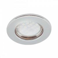 Ecola DL90 MR16 GU5.3 св-к встр.плоский Перламутровое Серебро 30x80 FP1611EFY (1/10/200)