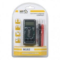 IEK мультиметр карманный Compact M182 AC(0.1V..600V) DC(0.2mV..500V/2mA..20A)R(0.2..20МОм)TMD-1S-182