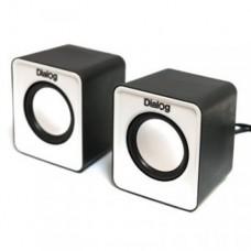 Dialog Акустические колонки AC-02UP black-white Colibri 6W RMS - 2.0, черные, питание от USB