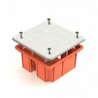 TDM коробка распред. 92х92х40мм СУ для твердых стен с крышкой, инд. штрихкод IP20 SQ1402-1001