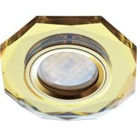 Ecola DL1652 MR16 GU5.3 св-к  Стекло 8-угольник Золото/Золото 25x90 FG1652EFF