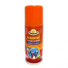 Аэрозоль дезодорант для Ног+Обувь защита от запаха 24 часа 100 мл. PREGRADA (1/24)