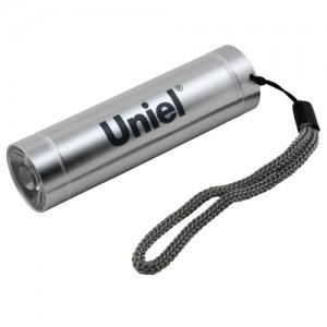 Uniel фонарь ручной S-LD043-B (3xR03) 1св/д 1W (50lm), серебро/алюмин., влагозащ., BL (1/20)