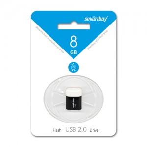 Флэш-диск USB 8GB Smartbuy LARA Black (SB8GBLara-K) (1)