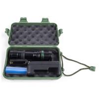 Ultraflash фонарь ручной E142 (1x18650 1.2Ah или 3xR03) 1св/д 3W(250lm),черн/металл,3 реж,фокус,бокс