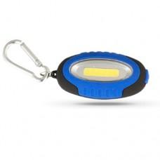 Camelion фонарь-брелок LED267-1 (2xCR2032 в компл.) 1св/д (30lm),черн+син/пласт,3 реж,магнит,карабин (1/30/120)