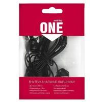 Наушники вакуумные SmartBuy® ONE, провод 1.2м, черные,  Jack 3.5 (SBE-100)