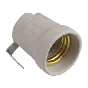 Uniel патрон E27 керамический с держателем  ULH-E27P-Ceramic