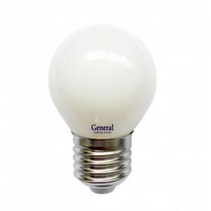 General Шар P45 E27 7W 2700K 2K (540lm) 45x74 пластик/алюмин. GLDEN-G45F-7-230-E27-2700,
