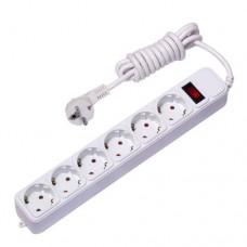 EKF сетевой фильтр ПВС 3х1 6 роз. 3м 16А выкл. земля. штор, предохр. ABS-пласт. UFA16-310-6-03