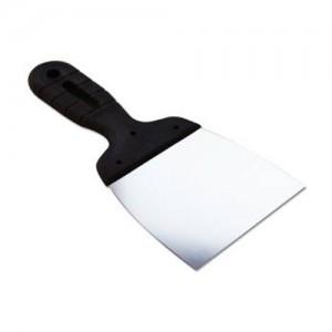 EUROTEX Шпатель 100мм нерж.сталь пластмассовая ручка, арт.20605-100