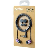 Perfeo наушники вакуумные TANGLE, провод 1,2м, фиолетов Jack 3.5 алюминиевый корпус (PF-TNG-BLK/VLT) (1/50)