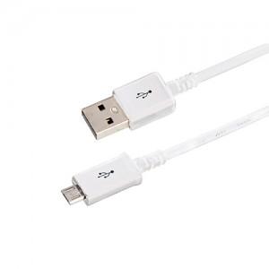 USB кабель microUSB длинный штекер 1М белый 18-4269-20 Rexant (20!)