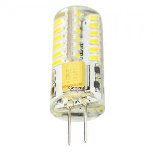 General G4 12V 3W (150lm) 4500K 4K 10*36 силикон BL5 (цена за 1шт.) 652300
