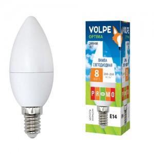 Лампа св/д Volpe свеча E14 8W(450lm) 6500K матовая 37x104 LED-C37-8W/DW/E14/FR/O