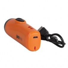JAZZWAY фонарь ручной +UV Accu1-L1W-og, (акк. 3,7V 1.5Ah c microUSB), 1Wсв/д+UV, оранж./пластик