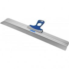 Шпатель СИБИН ФАСАДНЫЙ нержавеющий, алюминиевая направляющая, 2к ручка, 600мм