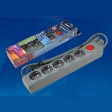 S-GSU5-1,5 WHITE Cетевой фильтр серии Universal, 1,5м (Пвс 3*0,75), 5 гнезд, с/з. 10А. Защита от пер