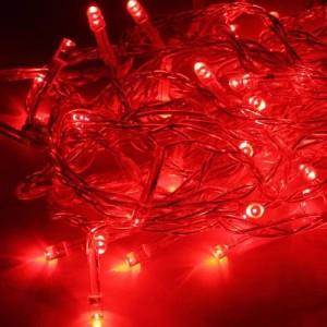 Гирлянда KOC_GIR50LED_R 50LED красный 6.5м 8 режимов