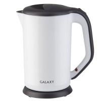 Чайник электр. Galaxy GL-0318 белый (диск, 1,7л) 2кВт, двойной корпус, нерж.сталь/пластик